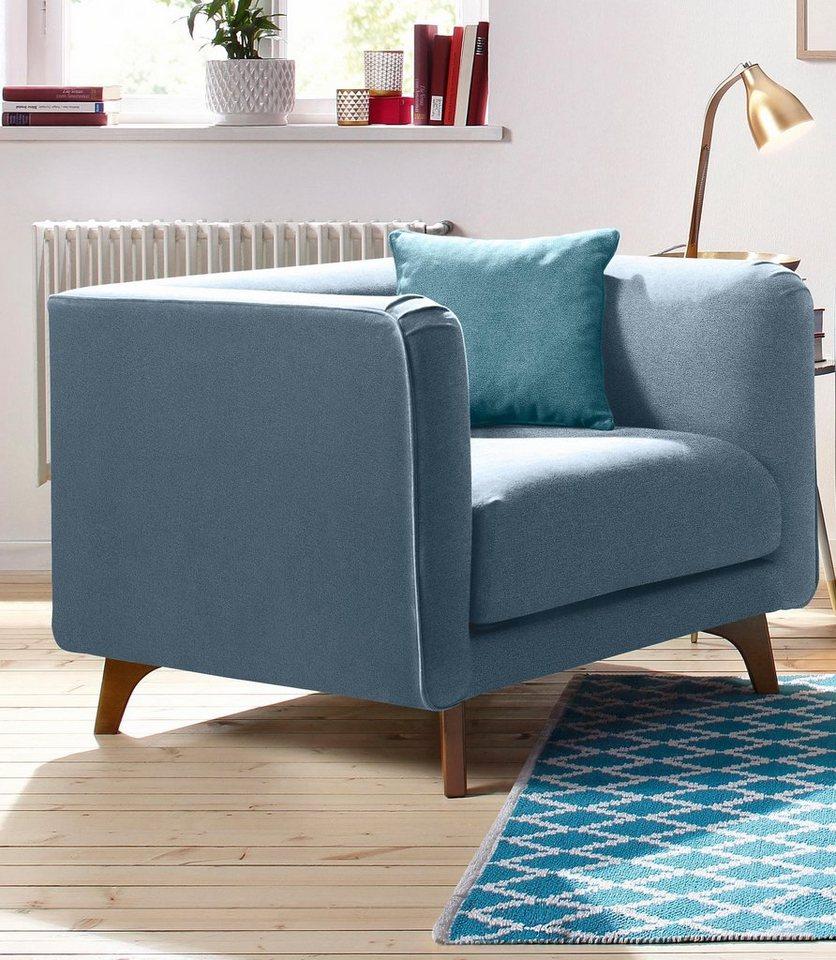 HOME AFFAIRE fauteuil Maja, in Scandinavisch design met sierkussen