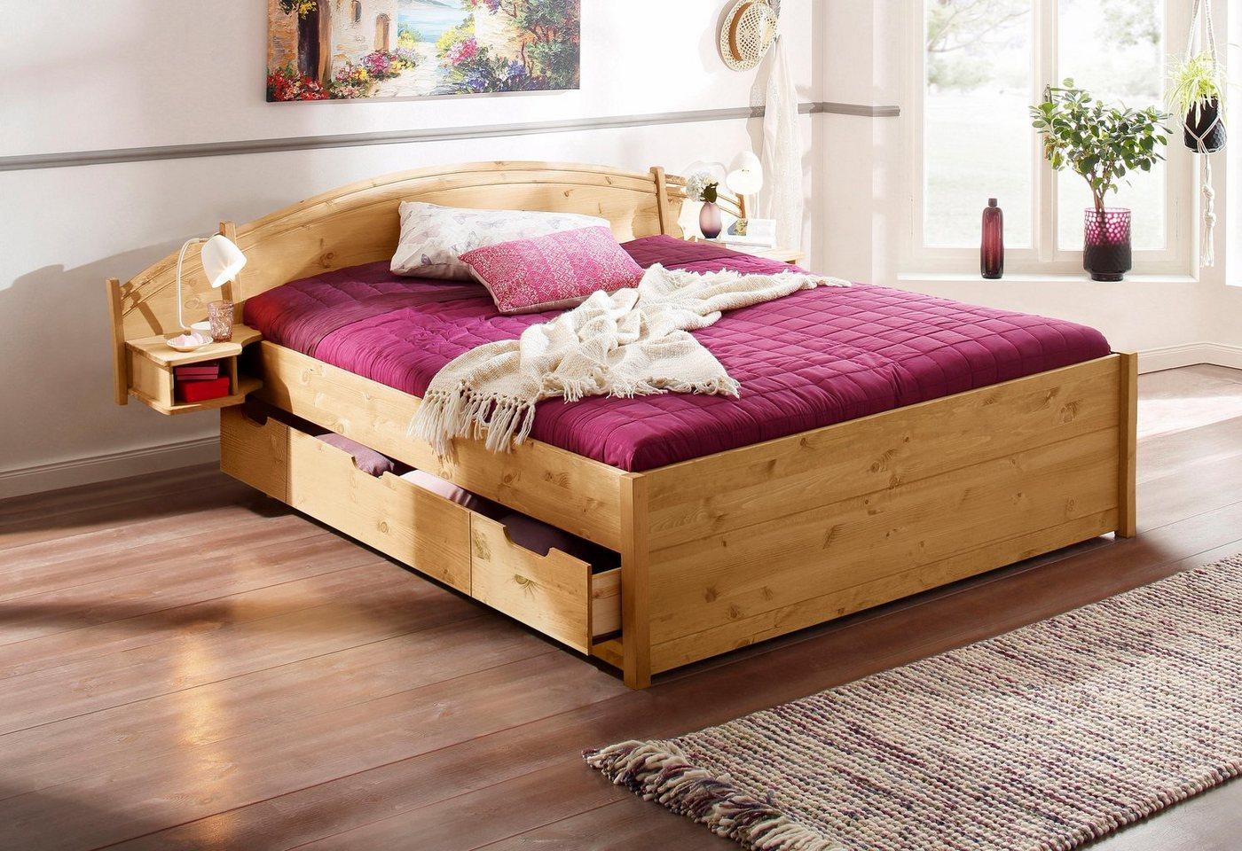 HOME AFFAIRE ledikant Sofia, met geïntegreerde nachtkastjes, verschillende breedten en 2 kleuren