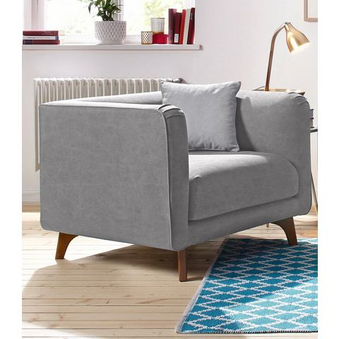 HOME AFFAIRE fauteuil Maja, in Scandinavisch design met sierkussen