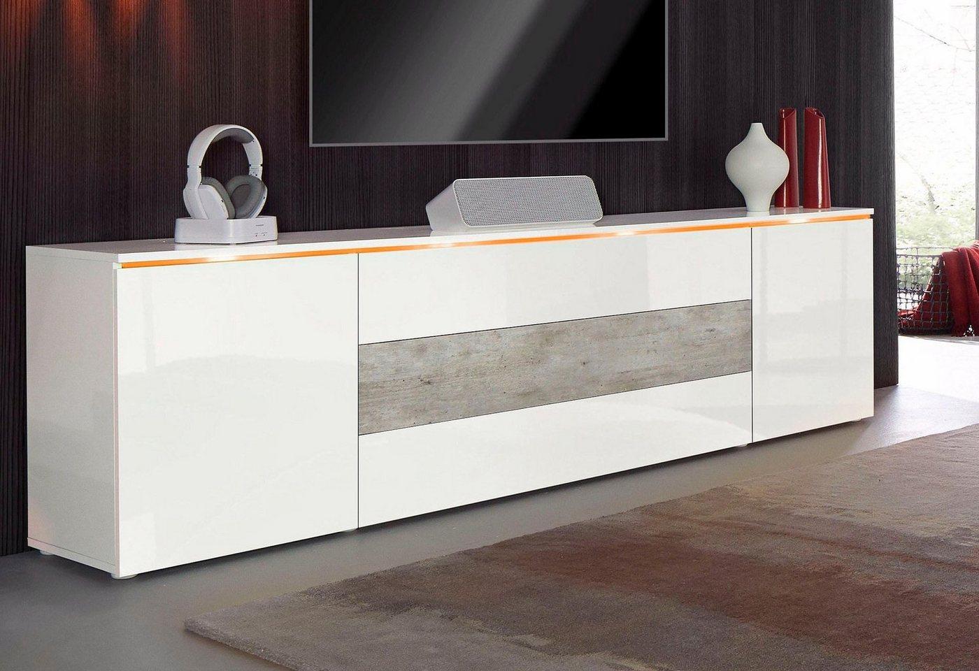 XXL-TV-meubel, breedte 200 cm