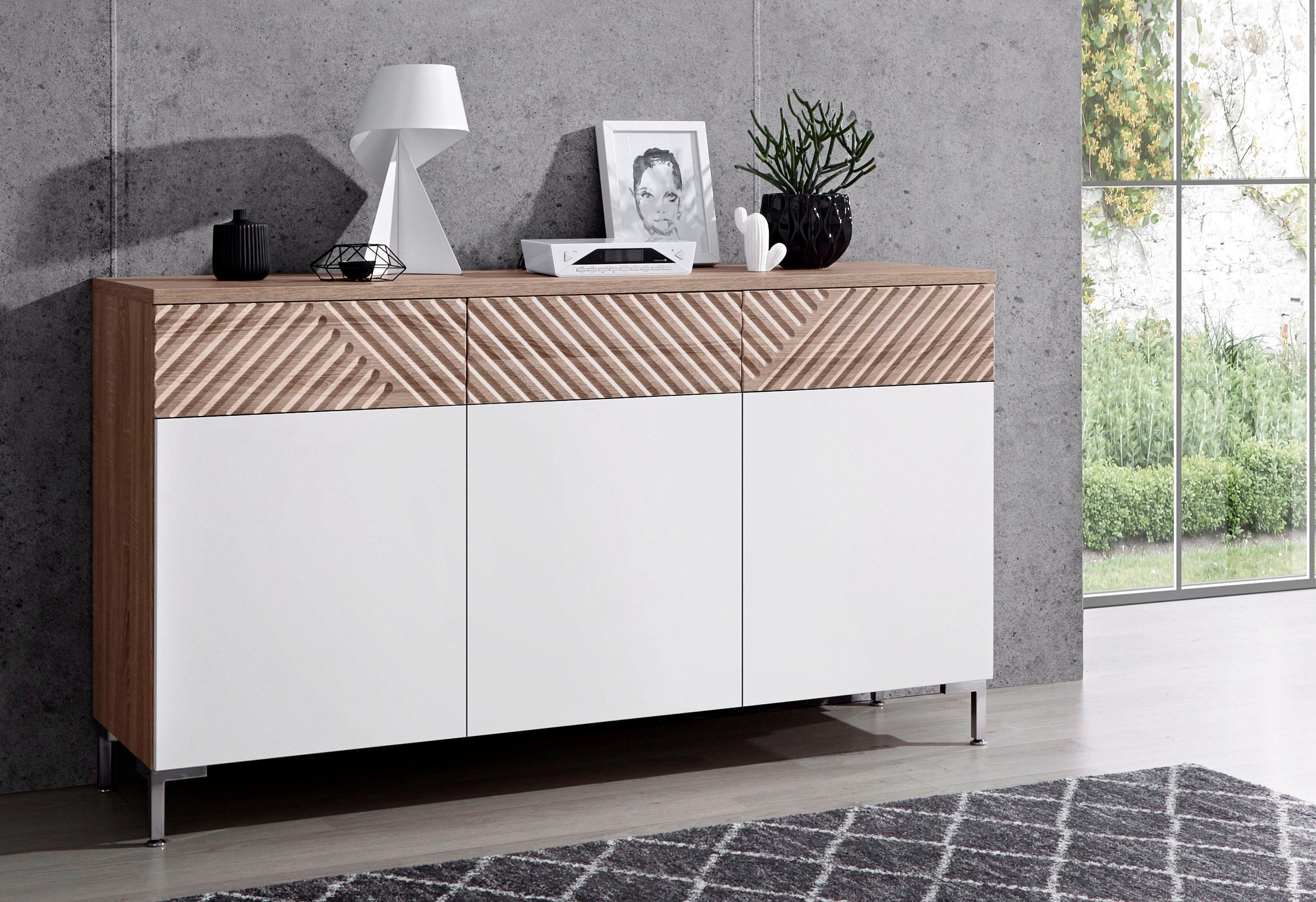 Inosign dressoir »Greta«, met freeswerk aan de ladefronten, breedte 147 cm voordelig en veilig online kopen