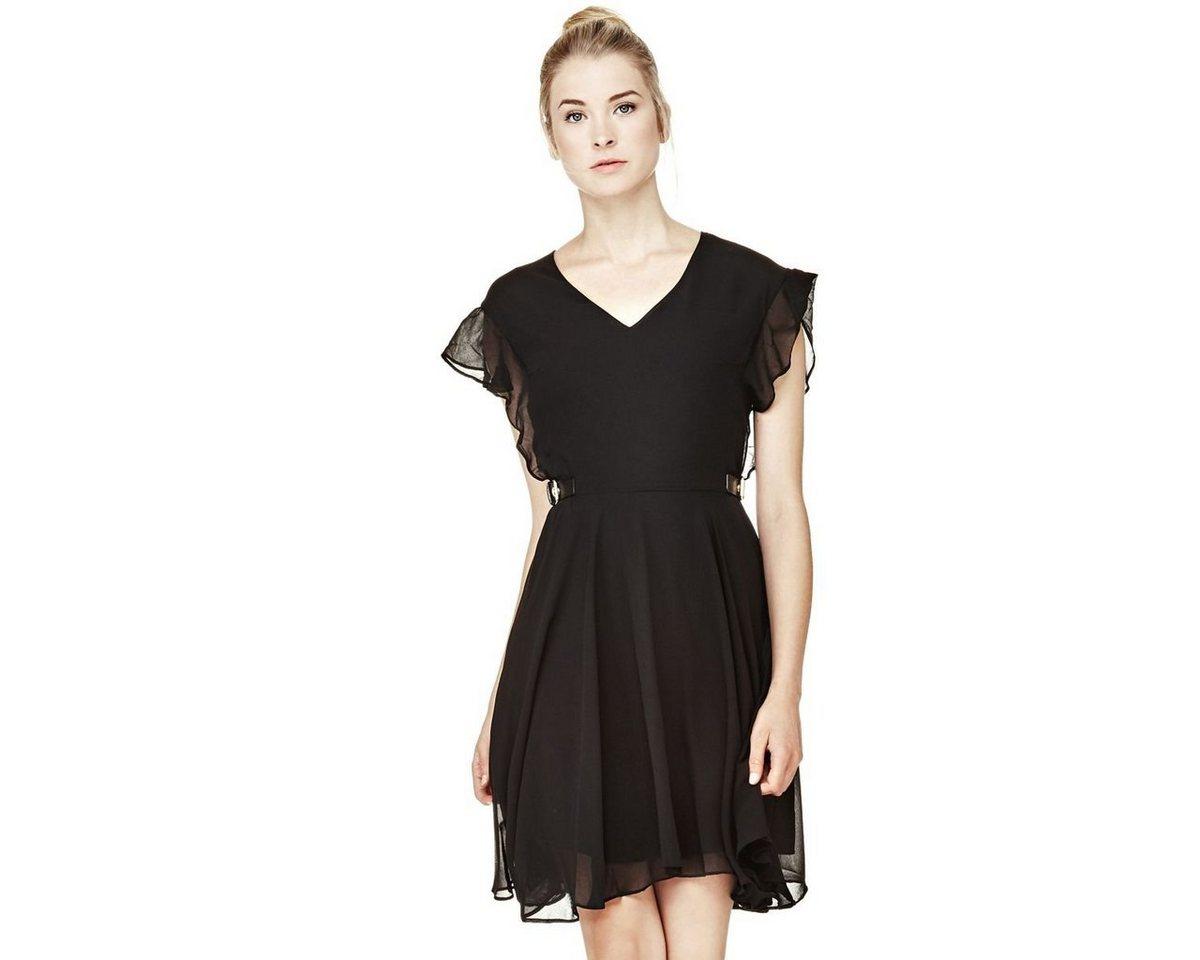 Guess jurk met print rondom zwart