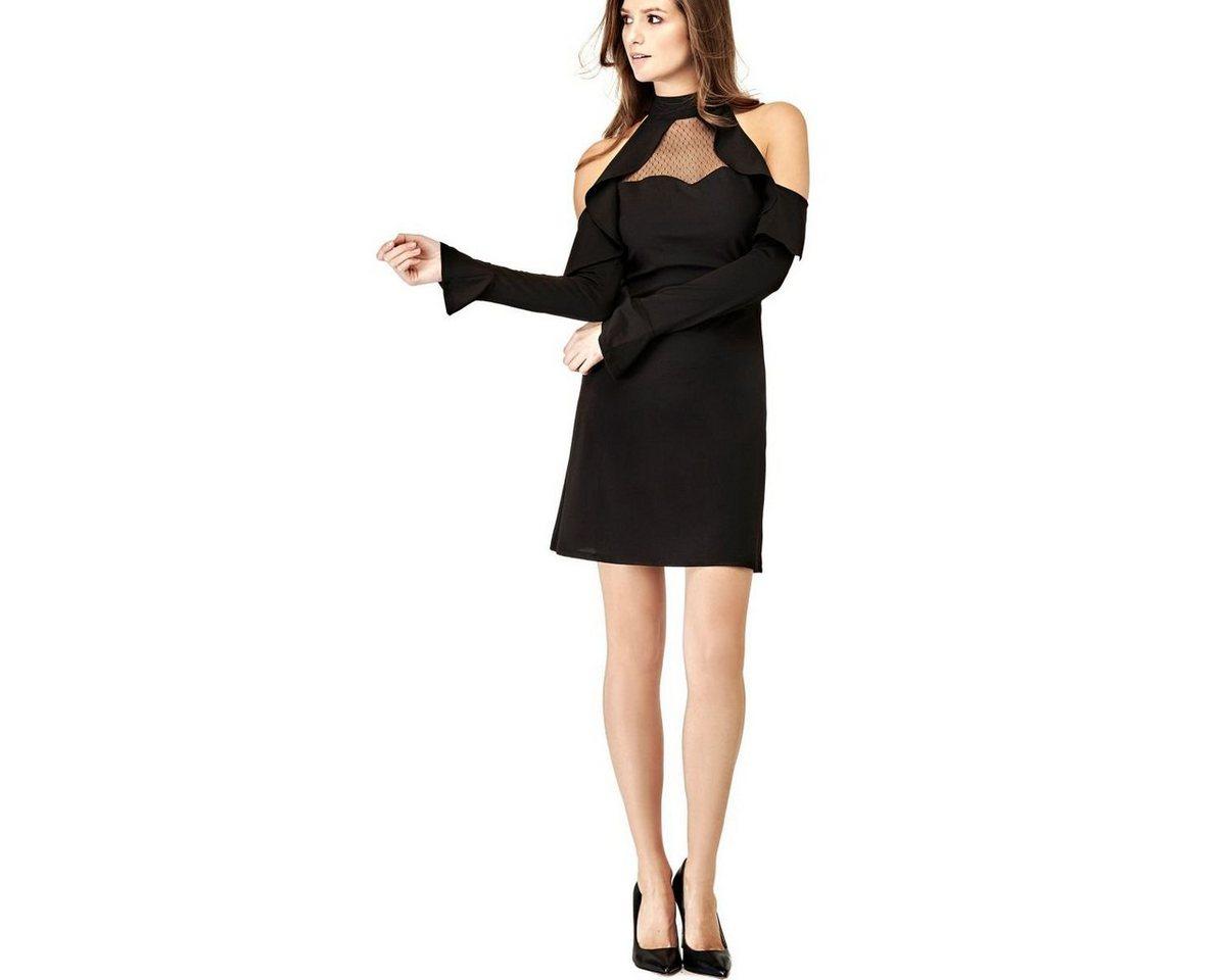 Guess schoudervrije jurk zwart