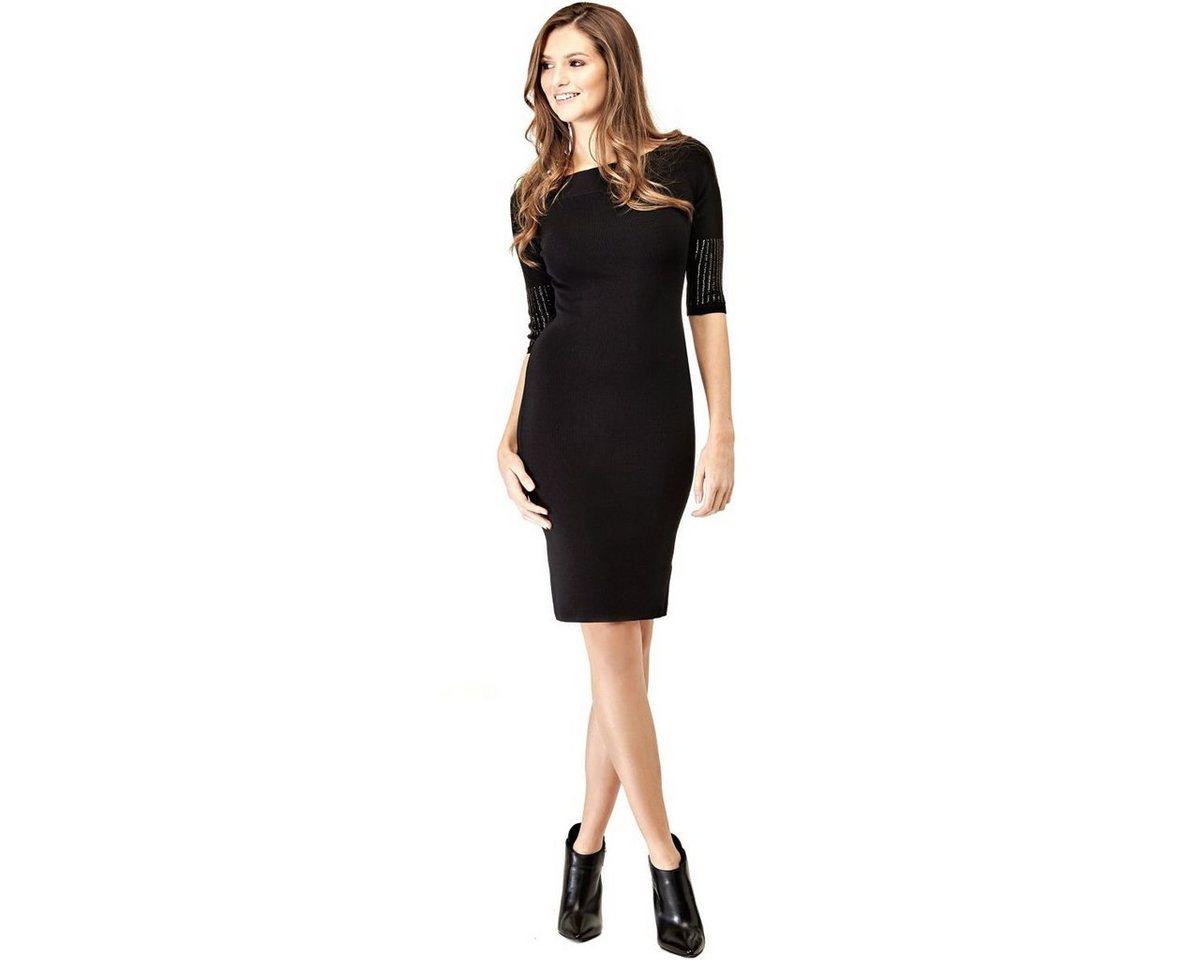 Guess jurk met mouwen met pailletten zwart