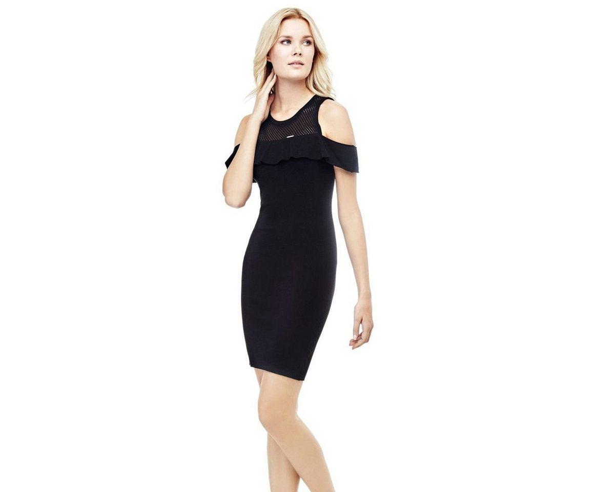 Guess jurk met hangende bandjes zwart