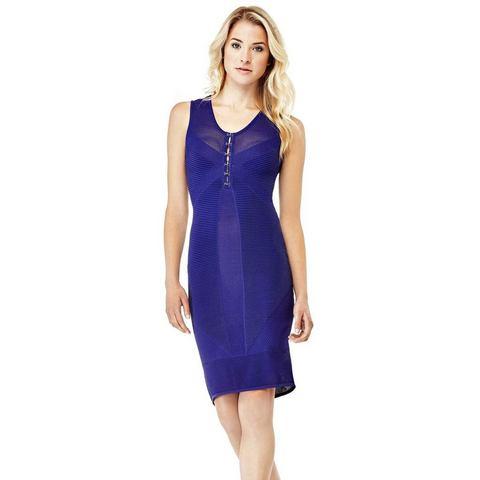 GUESS jurk in viscosemix met haakjes