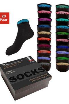 h.i.s korte sokken (box, 20 paar) zwart