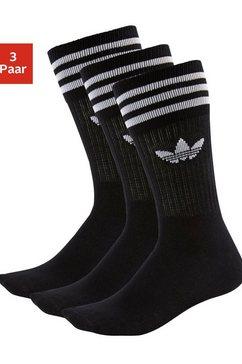 adidas originals tennissokken uniseks (3 paar) zwart