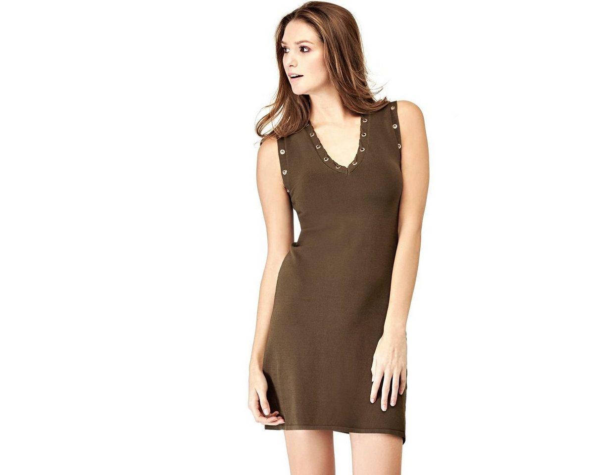 Guess jurk in viscosemix met bloemmotief groen