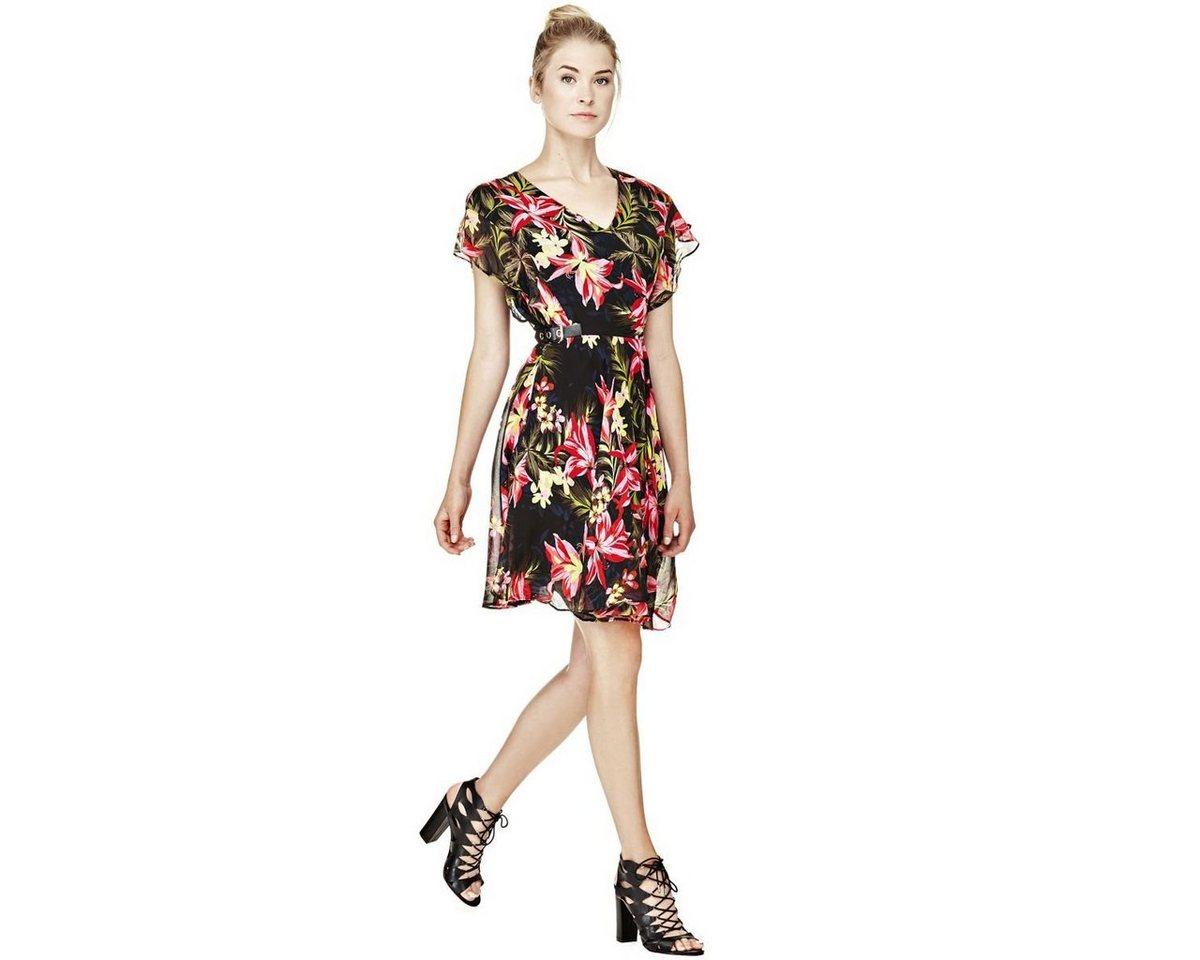 Guess jurk met print rondom roze