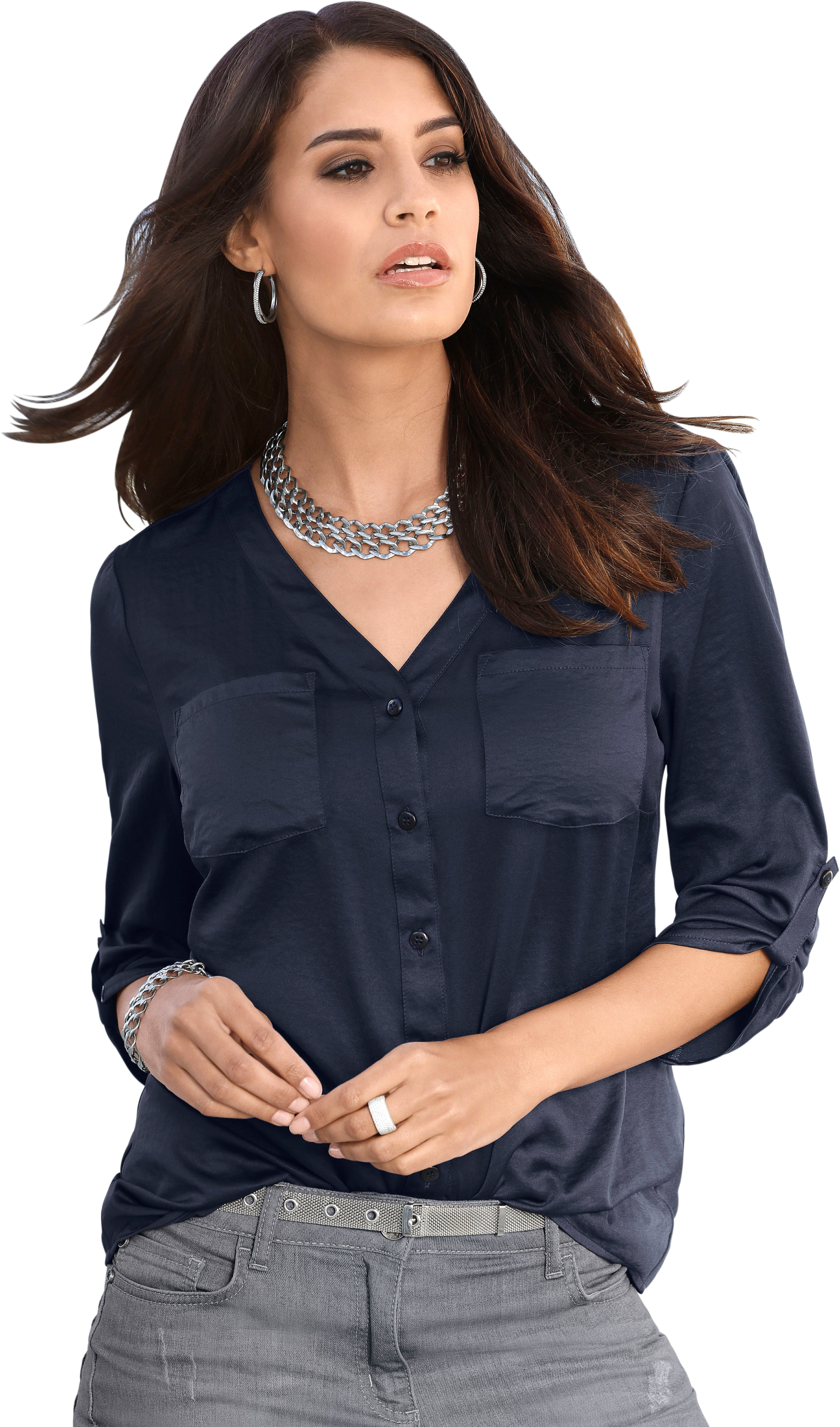 Afbeeldingsbron: CRÉATION L blouse van gewassen satijn