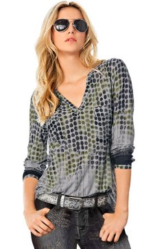 lady shirt met extra verlopende print groen