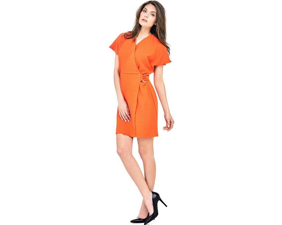 Guess jurk met ceintuur rood