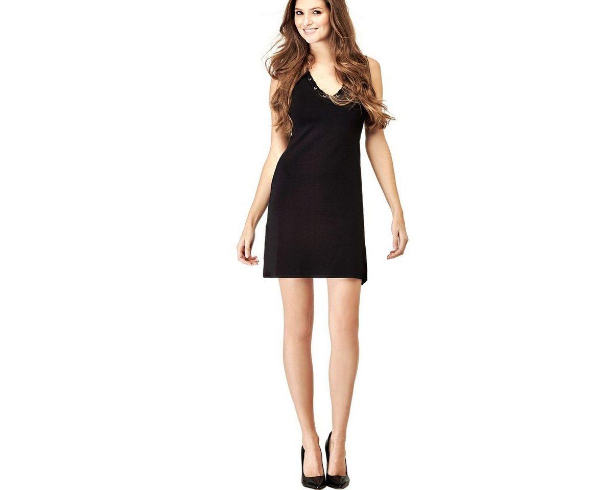 Guess jurk in viscosemix met bloemmotief zwart