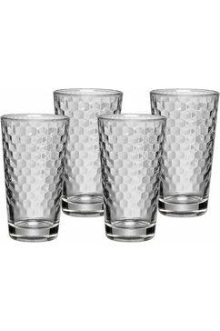 latte macchiato set, glas, 4-delig, »COFFEE TIME«