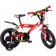 dino kinderfiets voor jongens, 16 inch, 1 versnelling, »sporty« rood