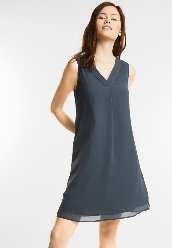 Street One jurk met V-uitsnijdingen grijs