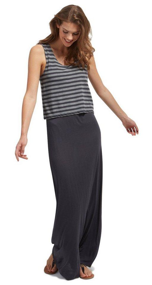 Tom Tailor jurk Maxikleid mit Overlayer grijs