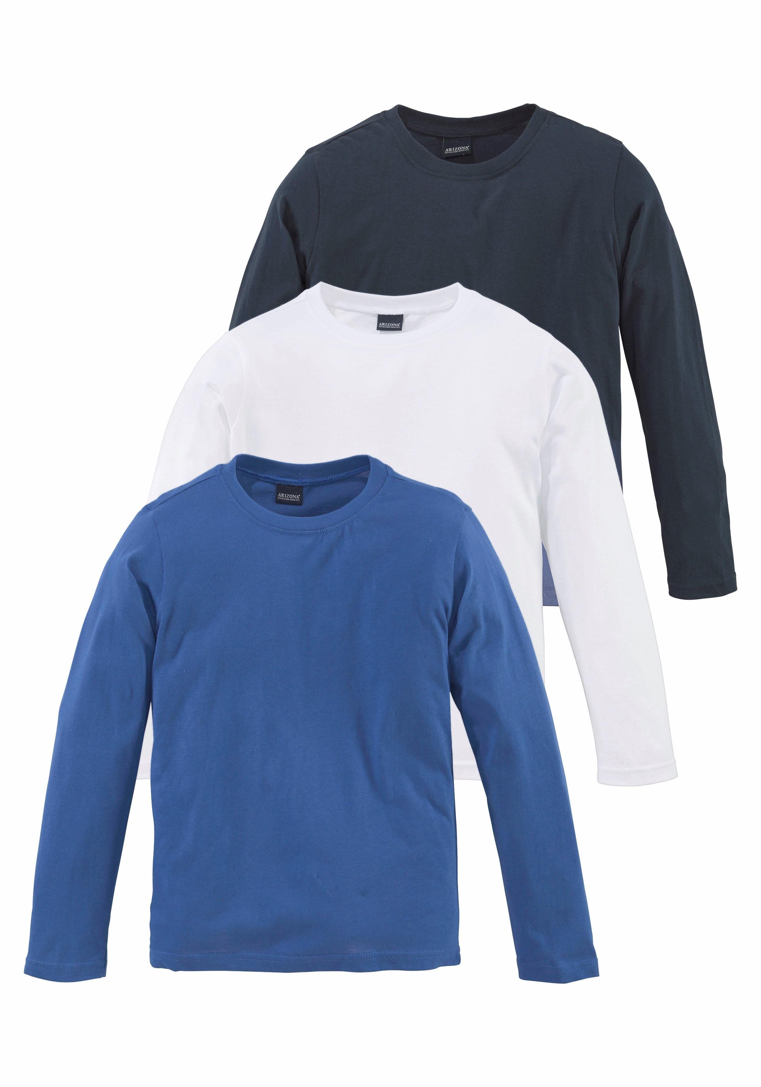32e73aa72dcb72 Arizona shirt met lange mouwen (set van 3) online bij | OTTO