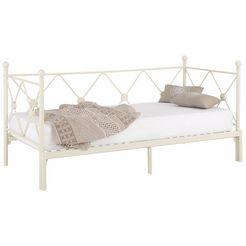 home affaire daybed »jenny«, van metaal, met een uittrekbaar ligoppervlak wit