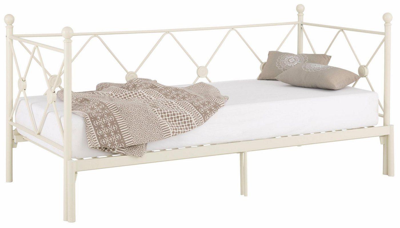 HOME AFFAIRE daybed Jenny, van metaal, met een uittrekbaar ligoppervlak