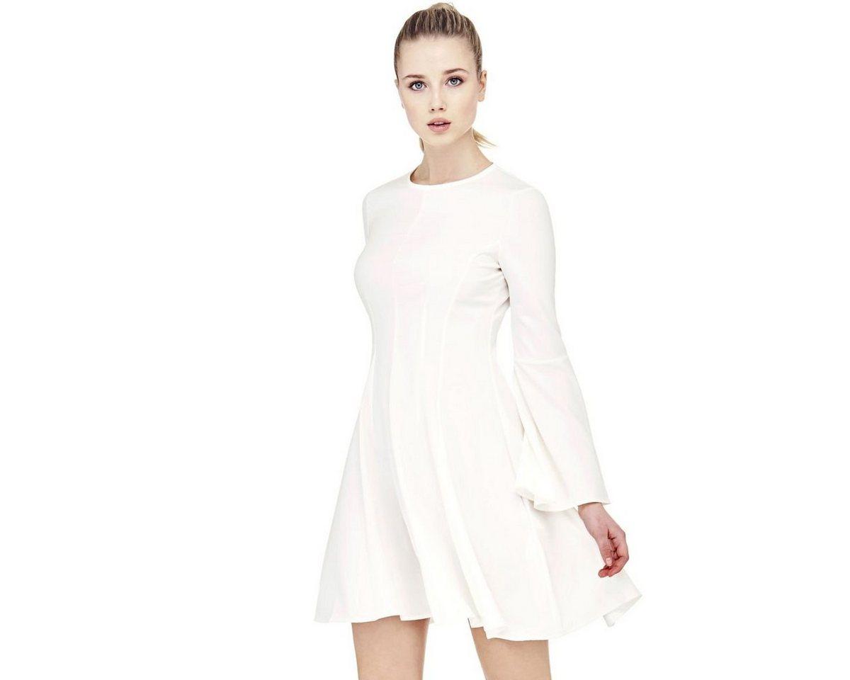 Guess jurk met klokkende mouwen wit