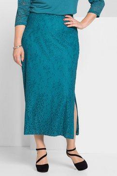 sheego style kokerrok blauw