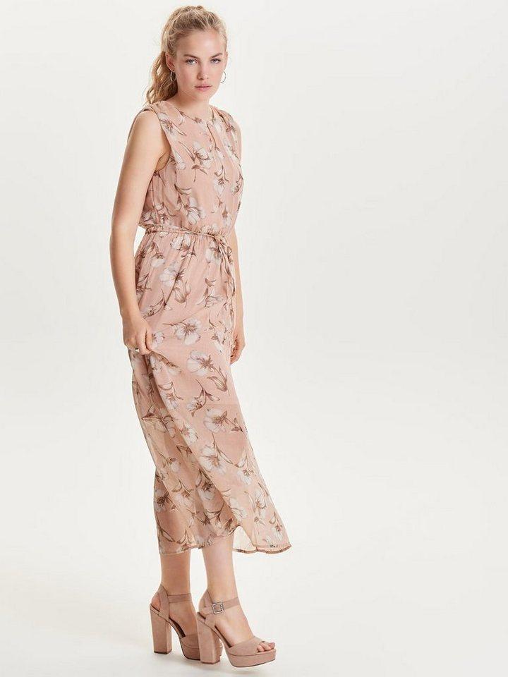 ONLY Mouwloze Midi jurk roze