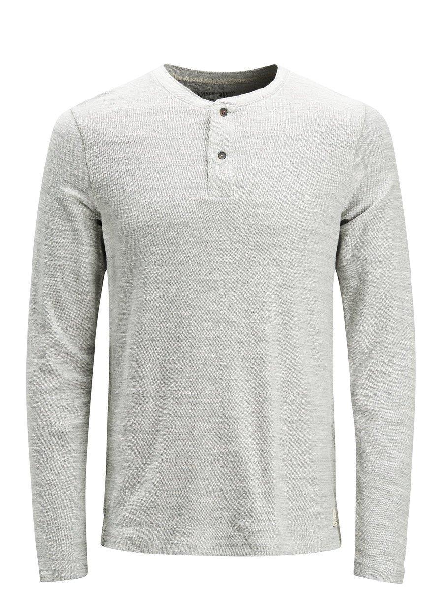 JACK & JONES Grandad gemêleerd T-shirt met lange mouwen bestellen: 14 dagen bedenktijd