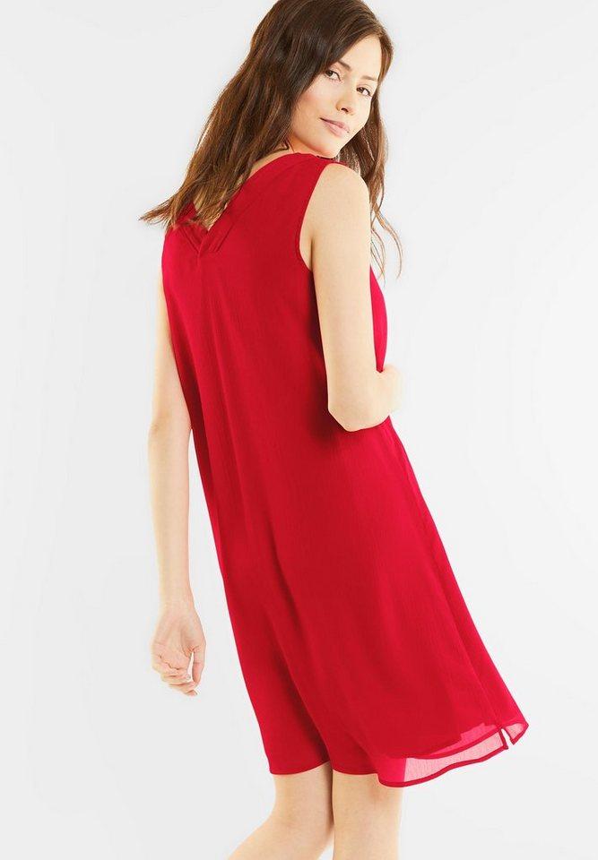 Street One jurk met V-uitsnijdingen rood