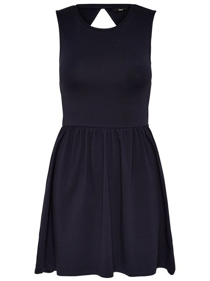ONLY Solid Mouwloze jurk blauw