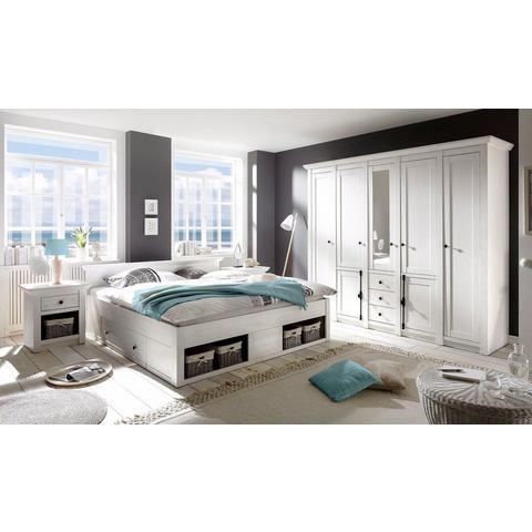 HOME AFFAIRE slaapkamerserie California groot: bed 180 cm, 2 nachtkastjes, 5-deurs garderobekast