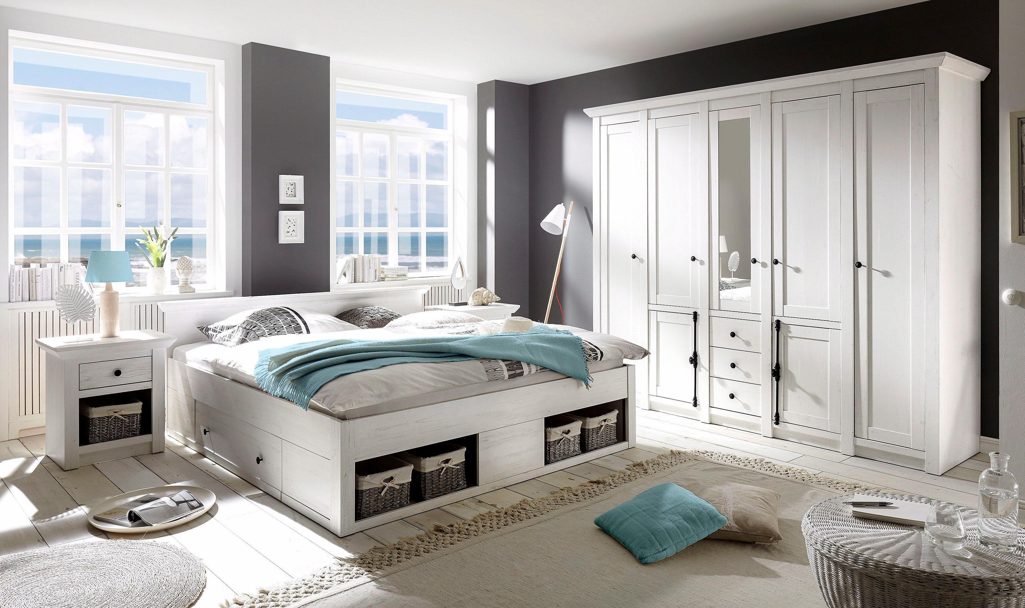 Op zoek naar een Home affaire slaapkamerserie California groot: bed 180 cm, 2 nachtkastjes, 5-deurs kledingkast (set, 4 stuks)? Koop online bij OTTO