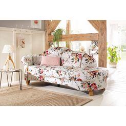 home affaire recamier »mayfair«, met bloemmotief, vrijstaand, naar keuze armleuning links of rechts roze