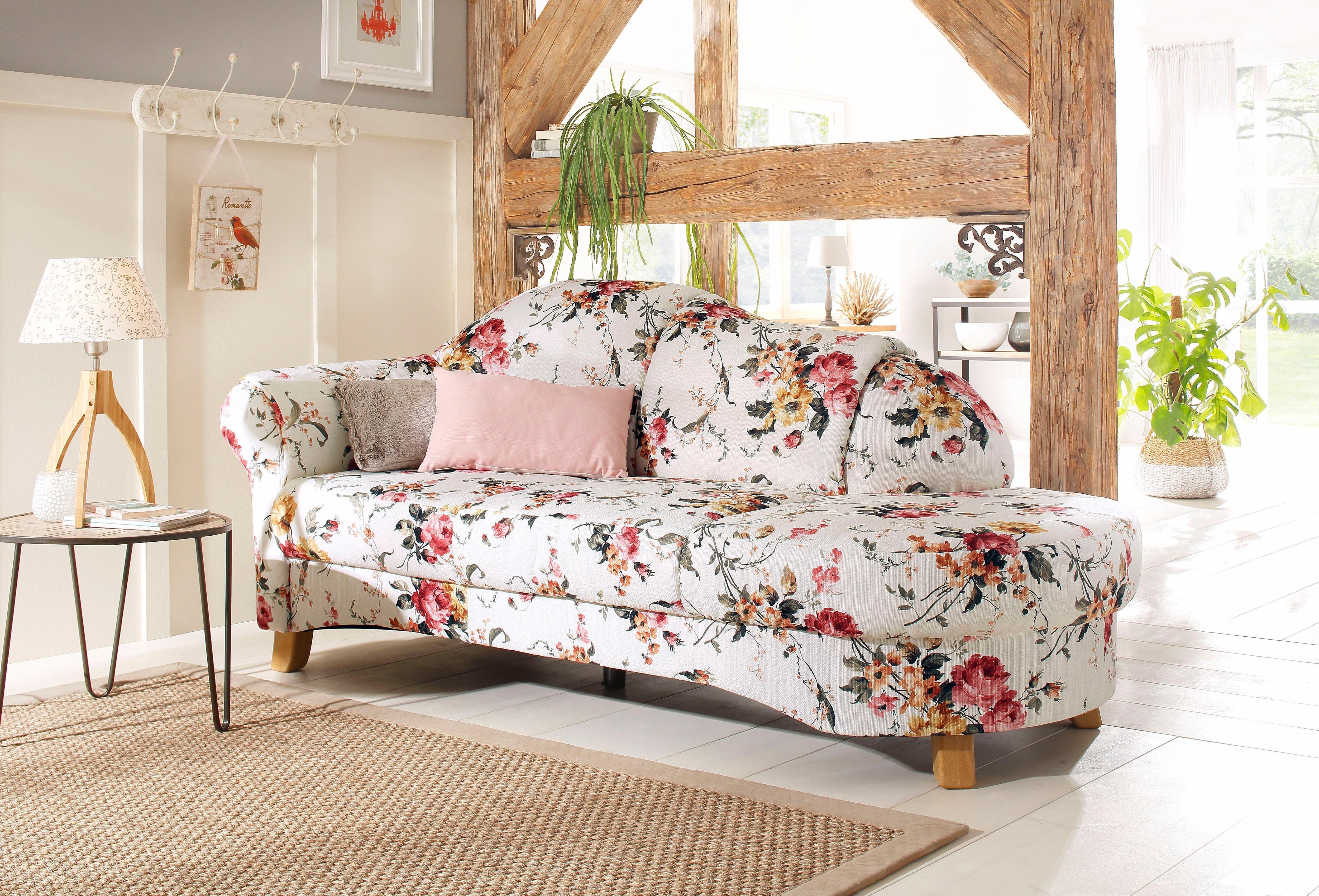 home affaire recamier mayfair met bloemmotief vrijstaand naar keuze armleuning links of. Black Bedroom Furniture Sets. Home Design Ideas