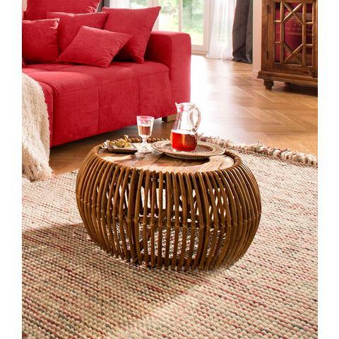 SIT salontafel Rattan Vintage, afm. (bxdxh): 80x80x40 cm