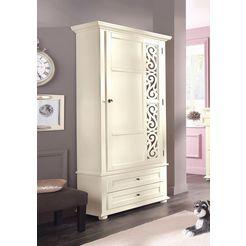 premium collection by home affaire kledingkast arabeske met mooi motief op de deur beige