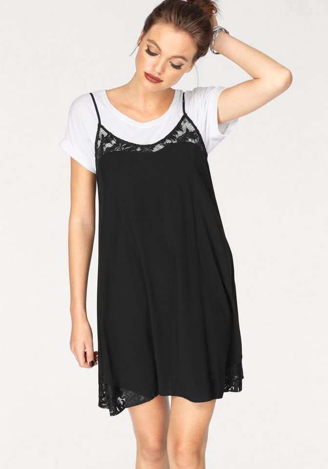 ONLY kanten jurk PIPER zwart
