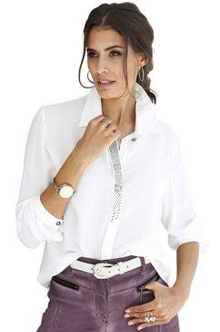 alessa w. blouse met fonkelende glinstersteentjes beige