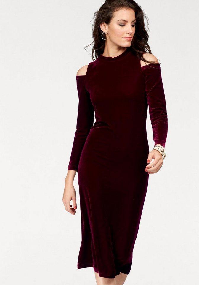 Aniston fluwelen jurk rood