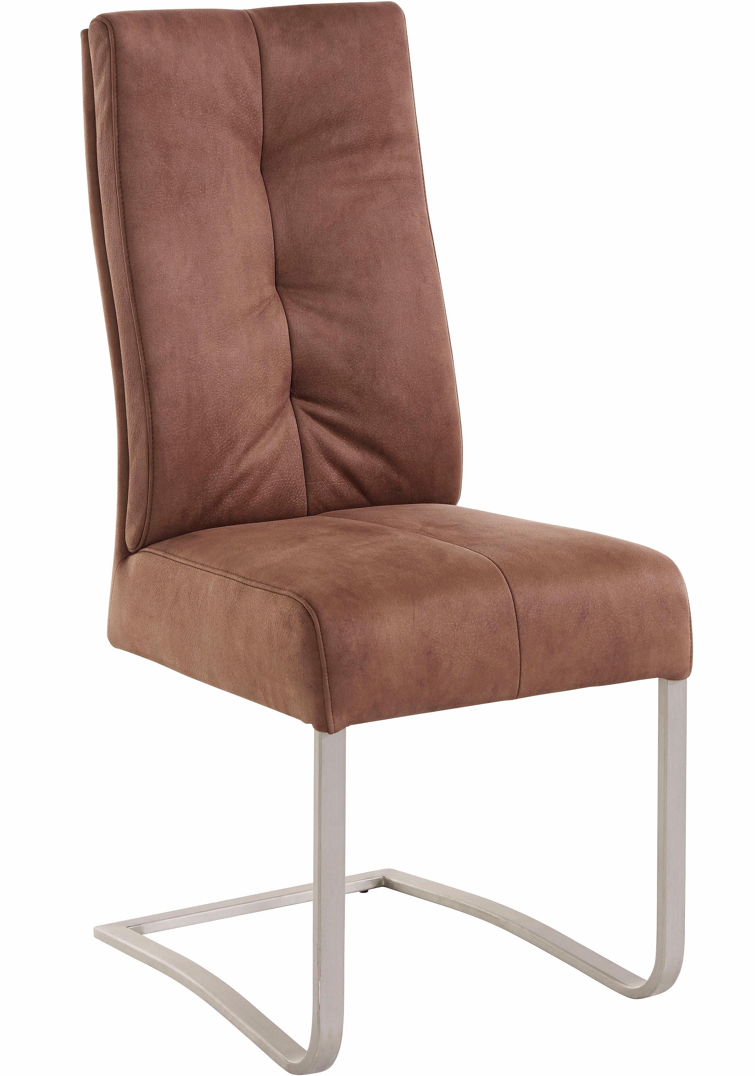 MCA furniture Eetkamerstoel Salva sledestoel 1 met pocketvering, belastbaar tot max. 120 kg (set, 2 stuks) voordelig en veilig online kopen