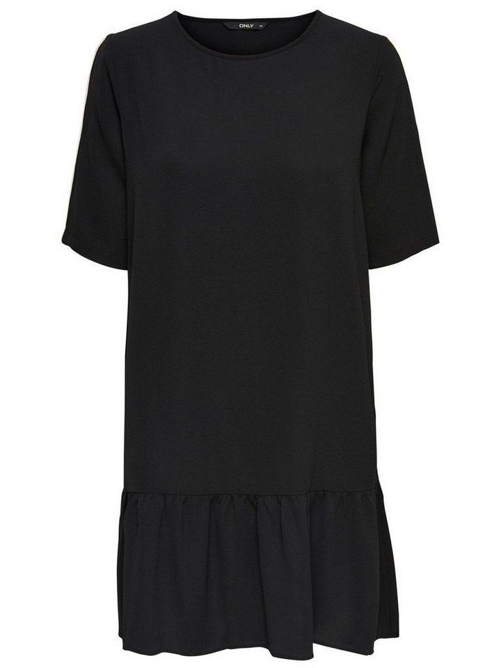 NU 21% KORTING: ONLY Peplum jurk met korte mouwen zwart