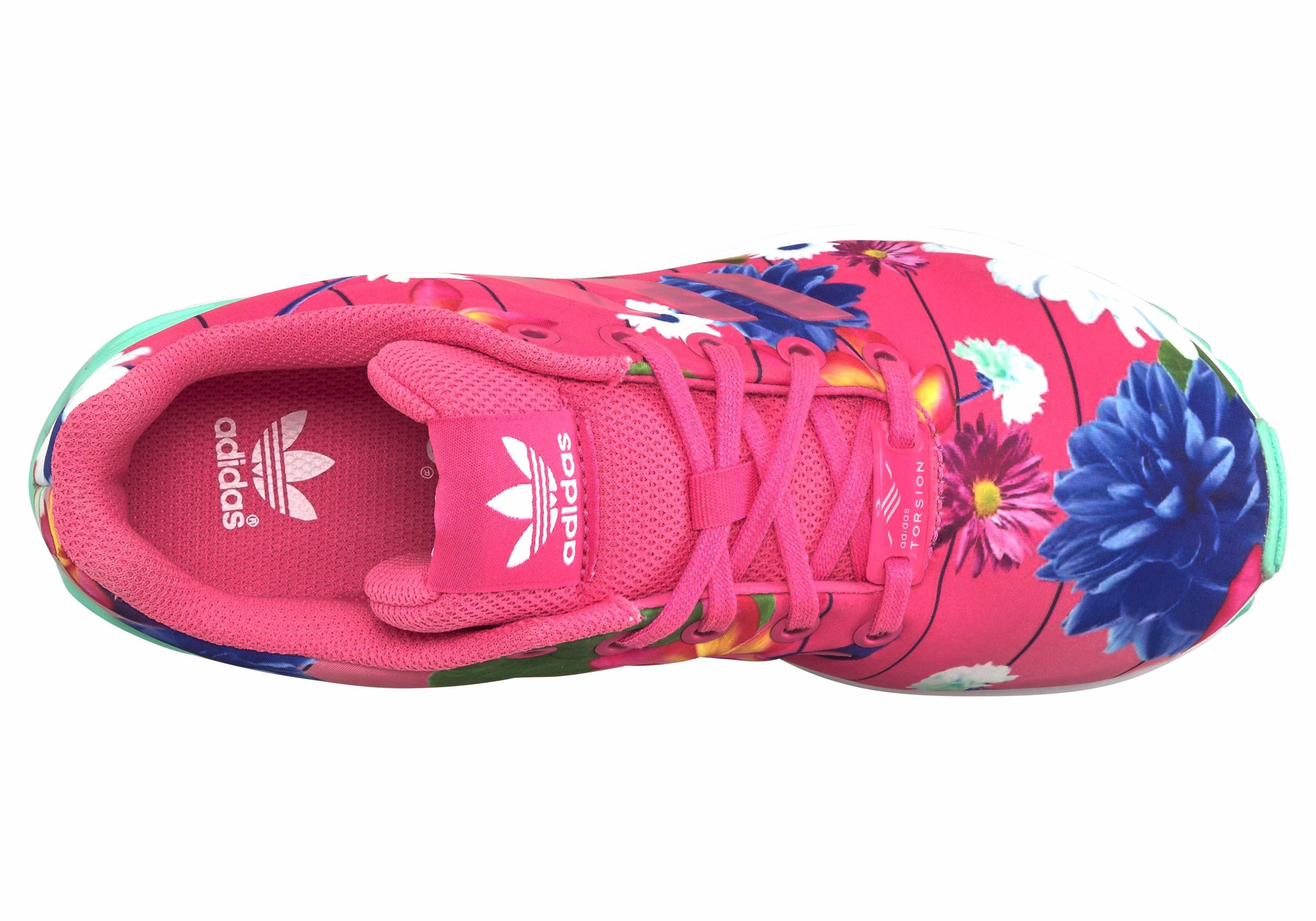adidas zx flux roze zwart