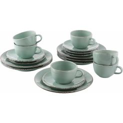 guido maria kretschmer homeliving koffieservies 'naturals' (18-delig) groen