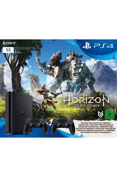 PlayStation 4 (PS4) 1TB Slim + 2 controllers + Horizon Zero Dawn