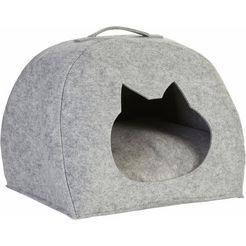 zeller present dierenmand vilt, 45x38x33 cm grijs