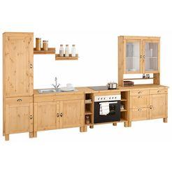 keukenblok »oslo« zonder elektrische apparatuur, breedte 350 cm beige