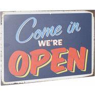 home affaire stalen schild »come in we´re open«, afm. (bxh): 45x30 cm zwart