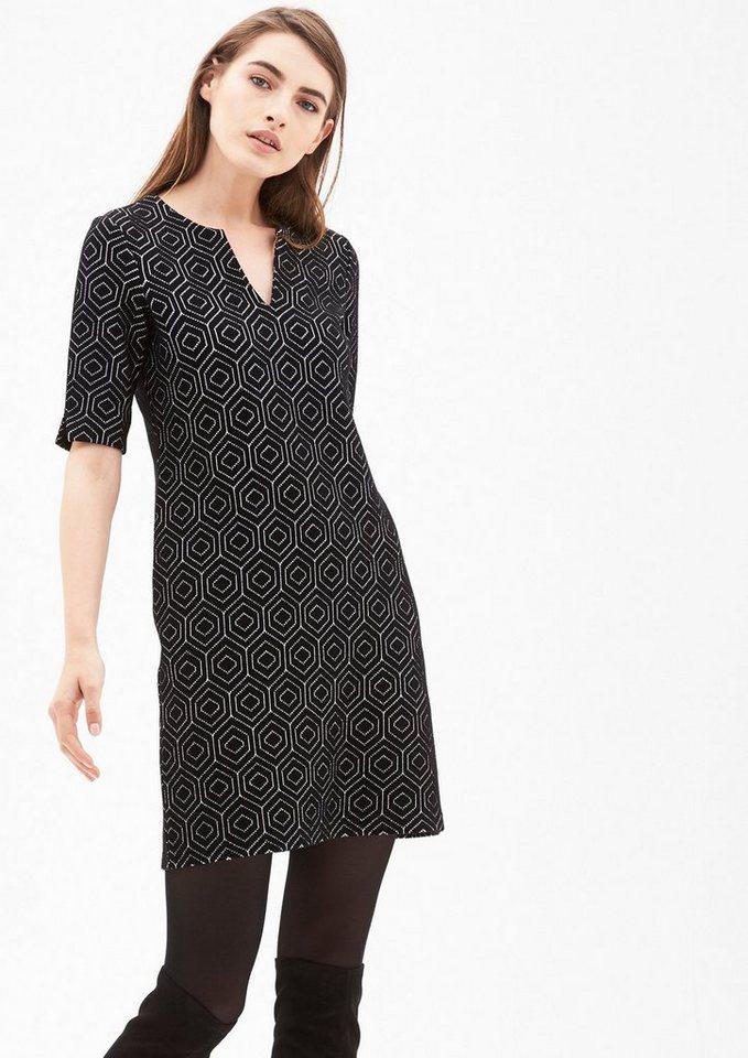 S.oliver Black LabelNU 21% KORTING s.Oliver LABEL Jacquard jurk met retromotief