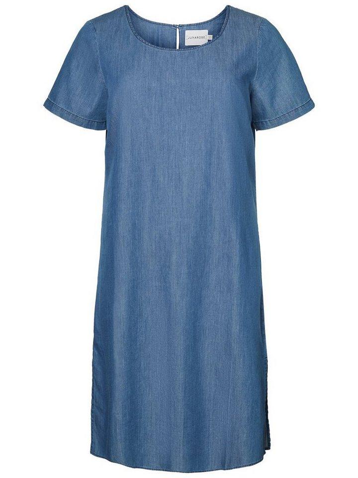 Junarose Denimlook jurk blauw